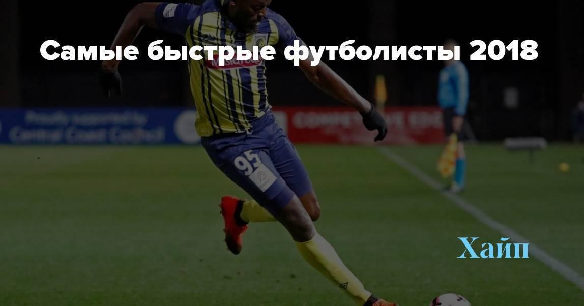 Топ-10 самых быстрых футболистов в мире