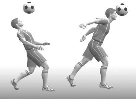Удар по мячу, катящемуся от игрока