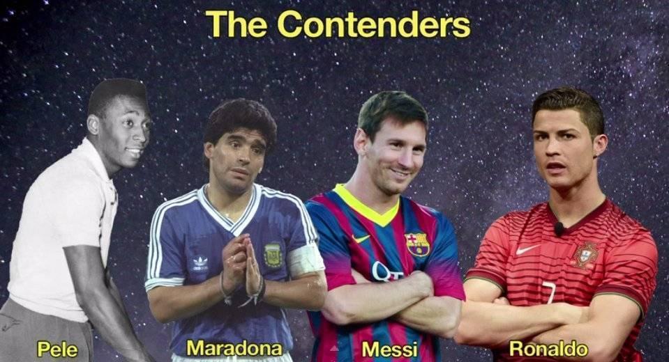 Сколько голов забили пеле, марадона, роналду и месси?