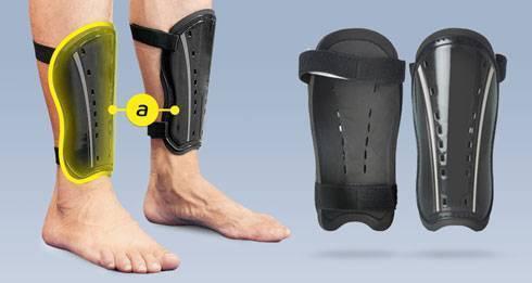 Правильно выбранный щиток защитит от травм голени и ступни