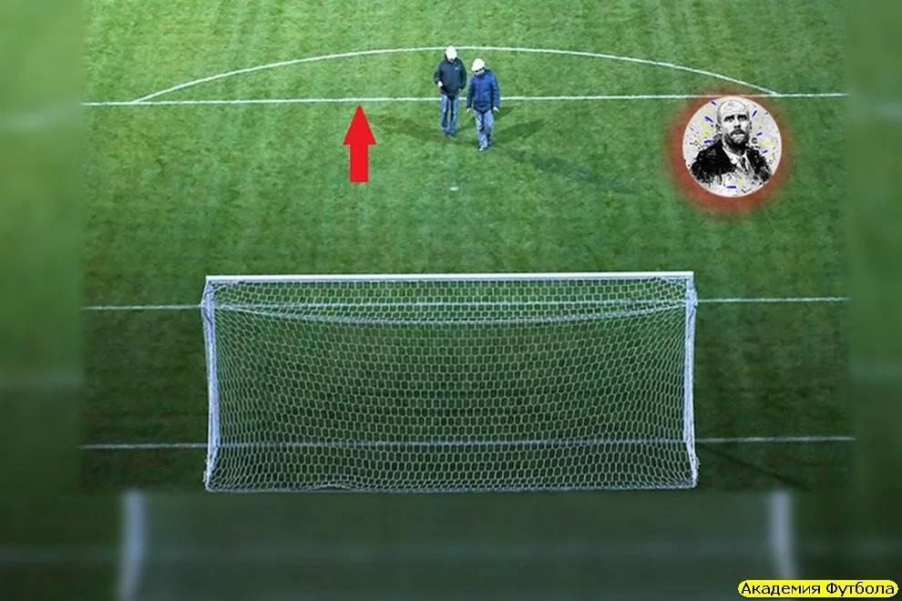 Зачем в футболе полукруг на поле?