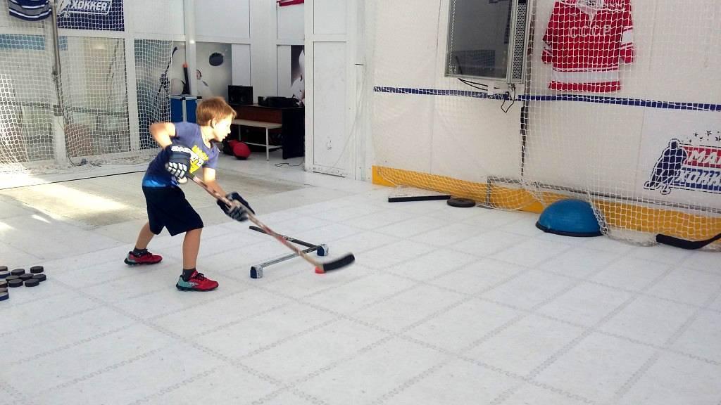 Тренировка на финты и дриблинг в хоккее