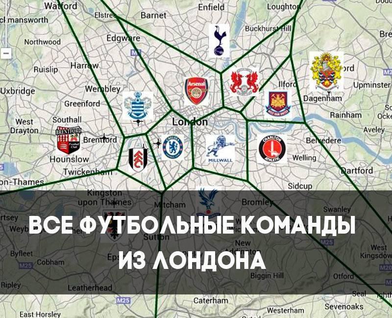 Все футбольные клубы лондона