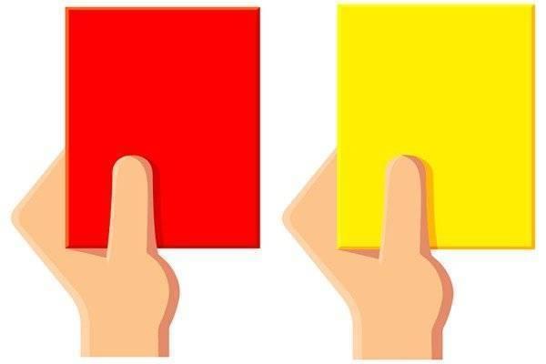 Статистика желтых и красных карточек в футболе