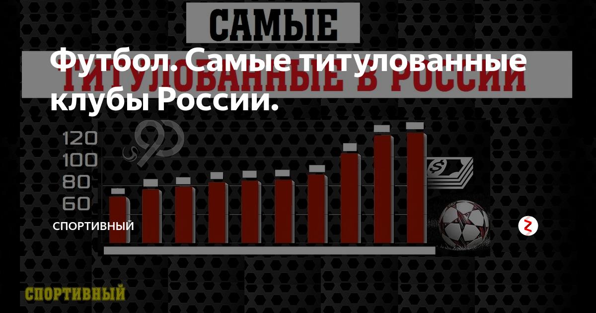 Самые титулованные футбольные клубы россии