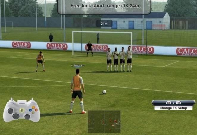 Как бить крученый мяч в футболе