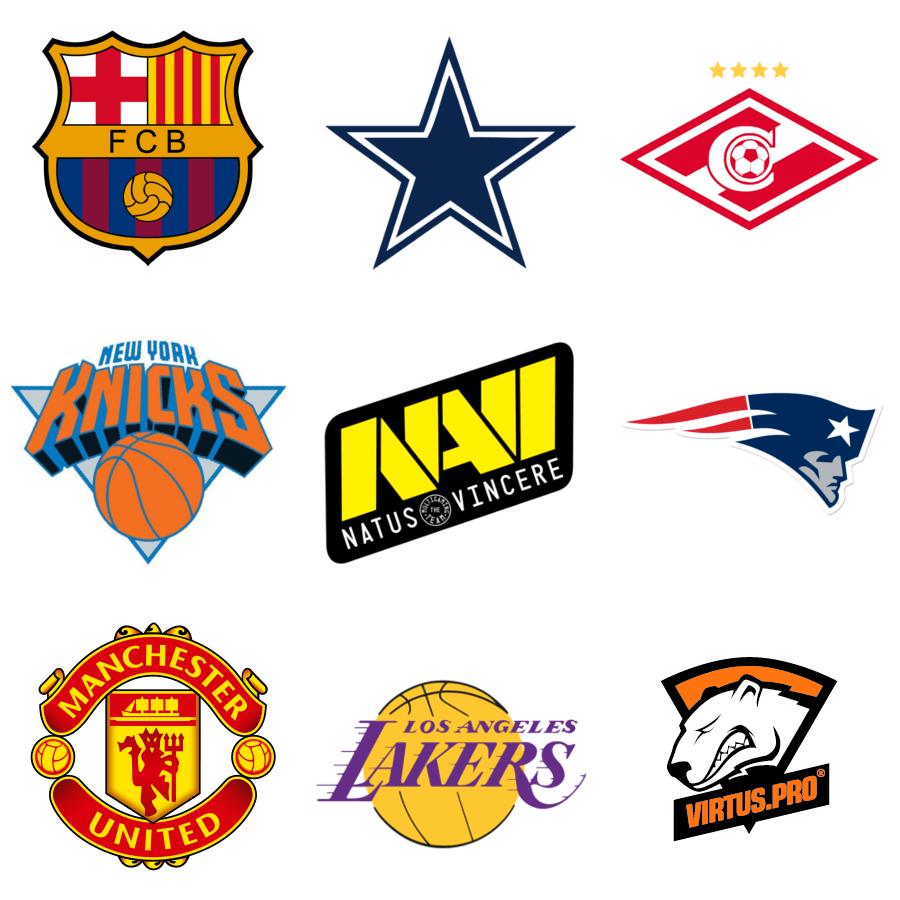 Новые названия, девизы и эмблемы команд для спортивных соревнований